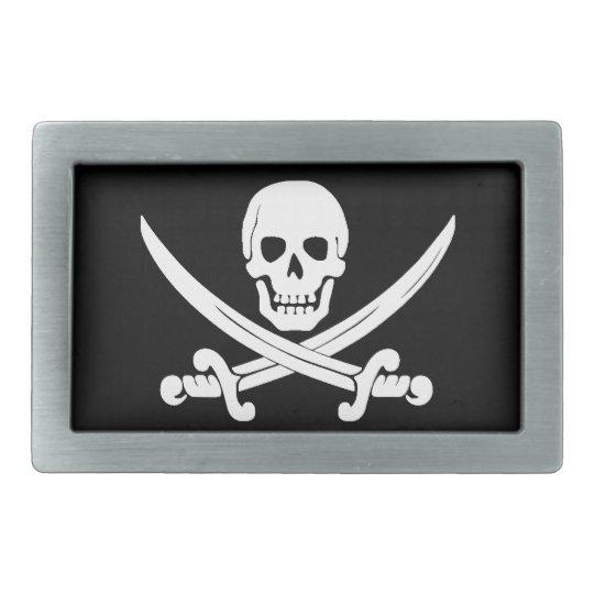 Pirate Flag Jolly Roger Skull and Crossbones Gift Belt Buckle