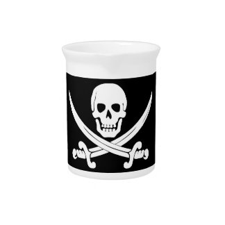 Pirate Flag Jolly Roger Skull and Crossbones Gift Pitchers