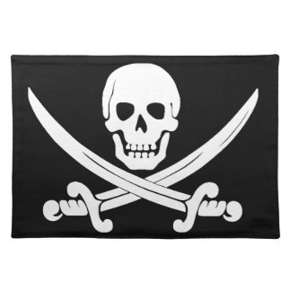 Pirate Flag Jolly Roger Skull and Crossbones Gift Placemat