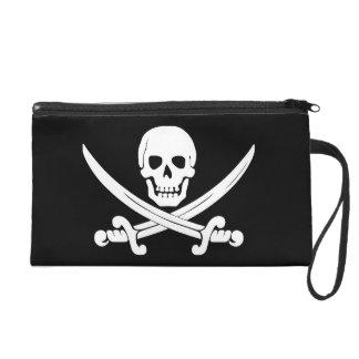 Pirate Flag Jolly Roger Skull and Crossbones Gift Wristlet