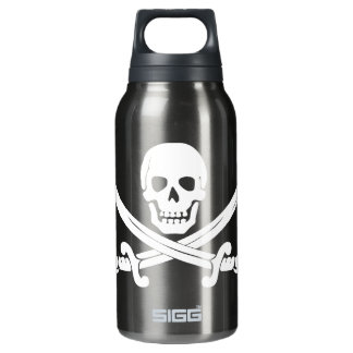 Pirate Flag Jolly Roger Skull and Crossbones Thermos Bottle