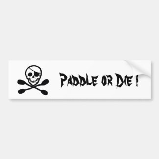 Pirate Flag Kayak Bumper Sticker
