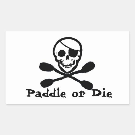 Pirate Flag Kayak Sticker Stickers