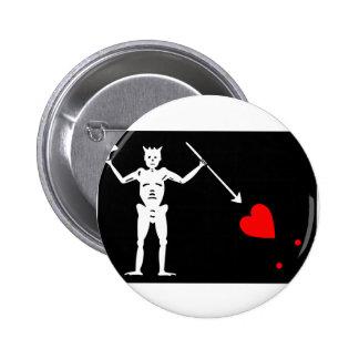 Pirate Flag Of Blackbeard Pinback Button