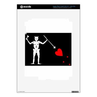 Pirate Flag Of Blackbeard Skins For iPad 3