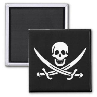 Pirate Flag of Calico Jack Fridge Magnet