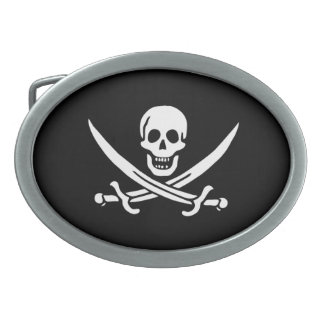 Pirate Flag of Calico Jack Oval Belt Buckle