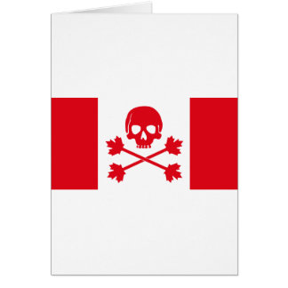 Pirate Flag of Canada Greeting Card