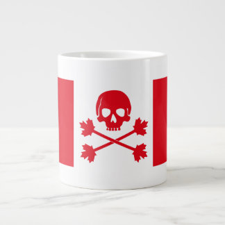 Pirate Flag of Canada Giant Coffee Mug