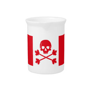 Pirate Flag of Canada Beverage Pitcher