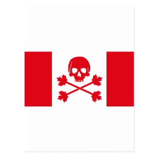 Pirate Flag of Canada Postcard