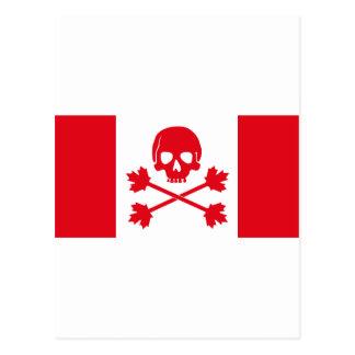 Pirate Flag of Canada Postcard