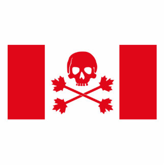 Pirate Flag of Canada Statuette