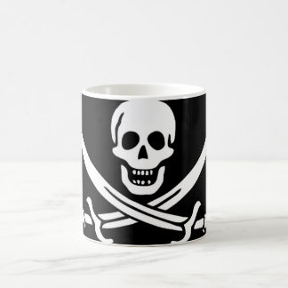 Pirate Flag of Captain Calico Jack Rackham 11 Oz Magic Heat Color-Changing Coffee Mug