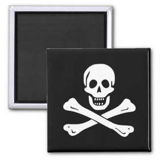 Pirate Flag of Edward England 2 Inch Square Magnet