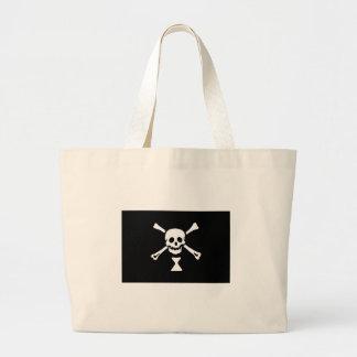 Pirate Flag Of Emmanuel Wynne Large Tote Bag