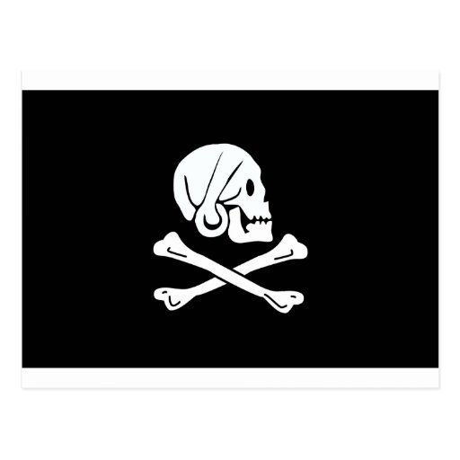 Pirate Flag of Henry Every Postcard