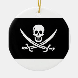 Pirate Flag Of Jack Rackham Ceramic Ornament