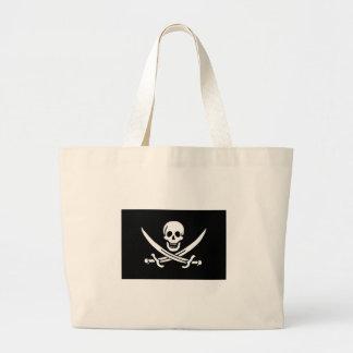 Pirate Flag Of Jack Rackham Large Tote Bag