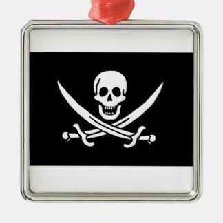 Pirate Flag Of Jack Rackham Metal Ornament