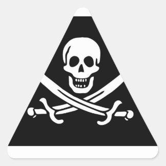 Pirate Flag Of Jack Rackham Triangle Sticker