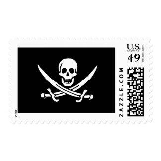 Pirate Flag of Rack Rackham Stamp