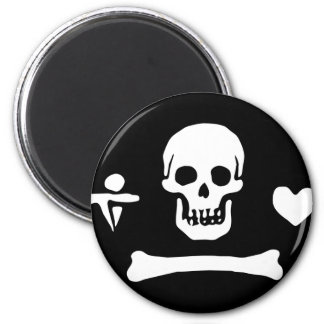 Pirate Flag of Stede Bonnet 2 Inch Round Magnet