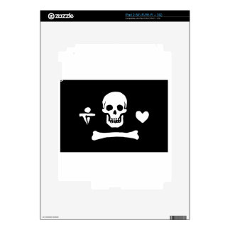 Pirate Flag Of Stede Bonnet Decal For iPad 2
