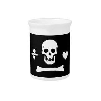 Pirate Flag Of Stede Bonnet Drink Pitcher