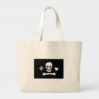 Pirate Flag Of Stede Bonnet Large Tote Bag