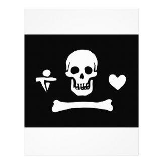 Pirate Flag Of Stede Bonnet Letterhead