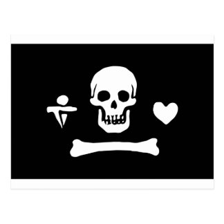 Pirate Flag of Stede Bonnet Postcard