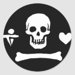 Pirate Flag of Stede Bonnet Round Stickers