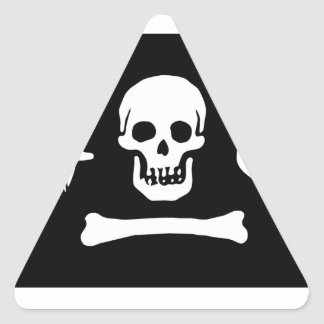 Pirate Flag Of Stede Bonnet Triangle Sticker