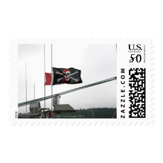 Pirate flag outdoors postage