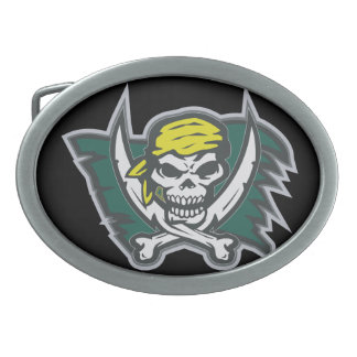 Pirate Flag Oval Belt Buckle