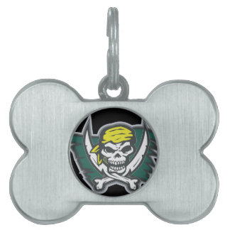Pirate Flag Pet Tags