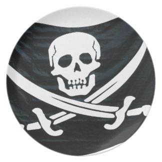 Pirate Flag Dinner Plates