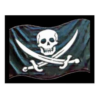 Pirate-Flag Postcard