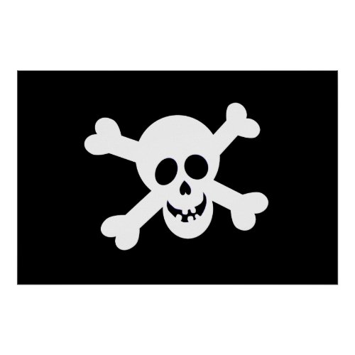 Pirate Flag Poster print