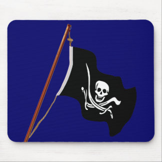 Pirate Flag Scull and Crossed Swords Mouse Mat