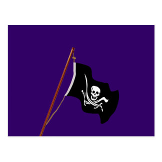Pirate Flag Scull and Crossed Swords Postcard