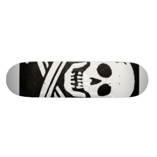 pirate-flag skateboard deck