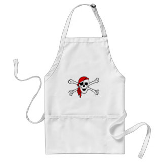Pirate Flag Skull and Crossbones Jolly Roger Adult Apron