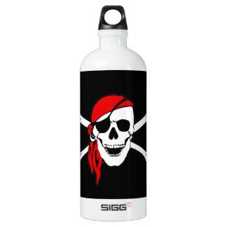 Pirate Flag Skull and Crossbones Jolly Roger Aluminum Water Bottle