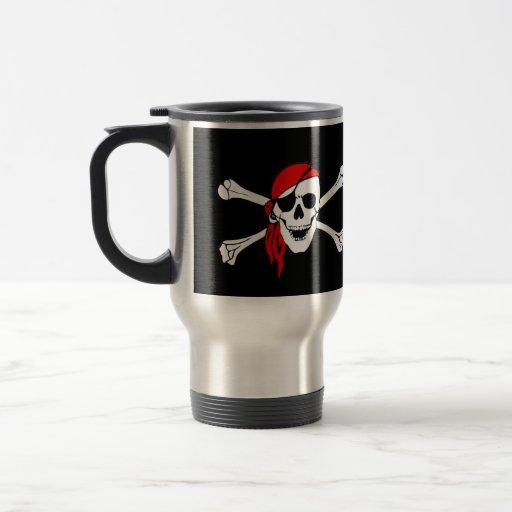 Pirate Flag Skull and Crossbones Jolly Roger Coffee Mugs