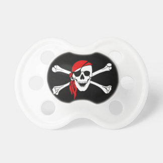 Pirate Flag Skull and Crossbones Jolly Roger Pacifier