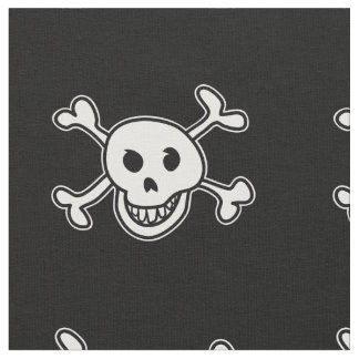 Pirate flag skull and crossbones pattern fabric
