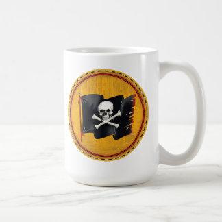 pirate flag skull and crossed bones classic white coffee mug