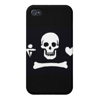 Pirate Flag Stede Bonnet iPhone 4/4S Case